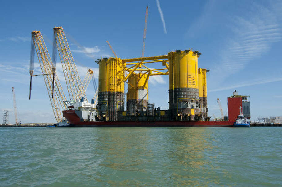 Shell Offshore Inc.'s Olympus hull completed a 18,272-mile journey to Ingleside, Texas on Jan. 26, 2013. It took two months for the structure to travel from South Korea. It was transported on the Blue Marlin, a vessel with a 26-person crew.