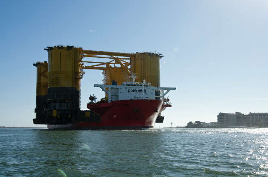 Shell Offshore Inc.'s Olympus hull completed a 18,272-mile journey to Ingleside, Texas on Jan. 26, 2