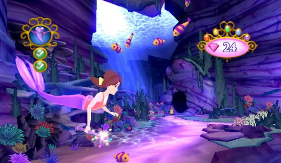 Disney Princess: My Fairytale Adventure: Kids solve puzzles and learn about friendship as they follow the story of a girl who has made a mistake -- she used magic to turn garden sprites into meddlesome imps -- and now she strives to remedy the situation by helping the people her mistake has affected. Age 5. Platforms: Mac, Nintendo Wii, Windows, Nintendo 3DS.  More at CommonSenseMedia.org.