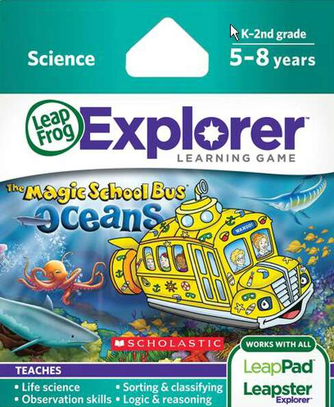 LeapFrog Explorer Learning Game: The Magic School Bus: Oceans: on a field trip under the ocean with