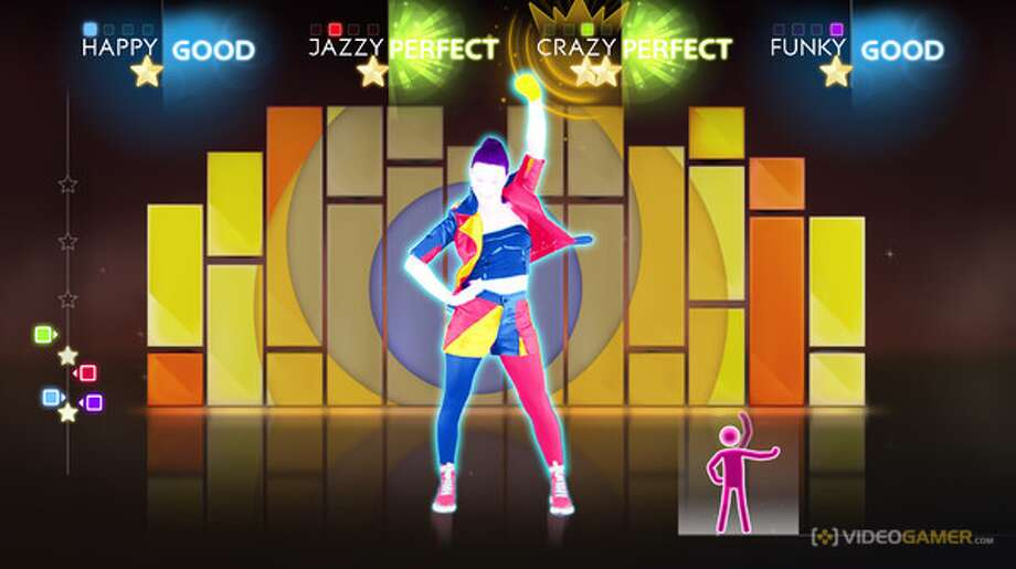 Just Dance 4: a music dance game where players follow moves presented by dancers on the screen. Age 11. Platforms: Nintendo Wii, PlayStation 3, Xbox 360, Nintendo Wii U. More at CommonSenseMedia.org.