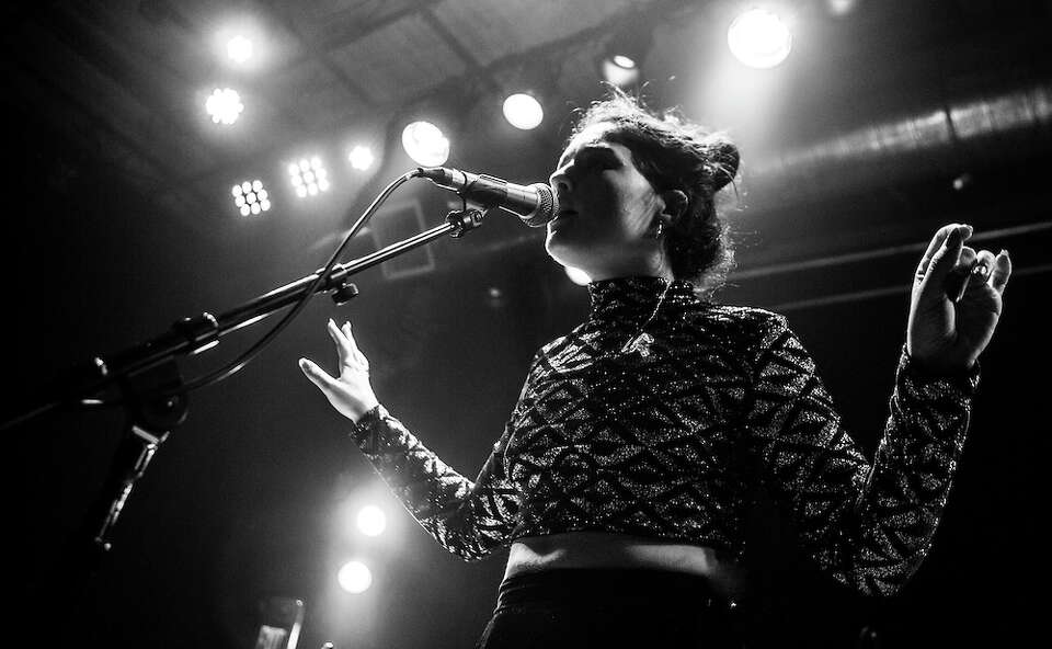 Jessie Ware performs at Popscene at the Rickshaw Stop in San Francisco on January 24, 2013.