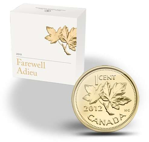 "A 1/25-ounce gold ""Farewell to the Penny"" 2012 commemorative coin. The mint produced 12,000 and sold them for $129.95. Sold out. Photo: Royal Canadian Mint"