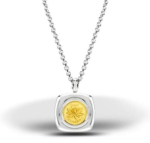 A 1/25-ounce gold 2012 penny pendant, $229.95. Sold out. Photo: Royal Canadian Mint