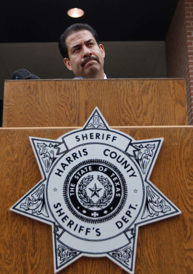 Harris County Sheriff Adrian Garcia speaks about developments in the Lone Star College shooting case at a news conference Monday, Jan. 28, 2013. | Johnny Hanson / Houston Chronicle Photo: Johnny Hanson / Houston Chronicle