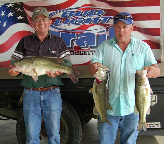 Joseph Goodrum and Rick Witten won 3rd place overall plus Big Bass of the tournament, weighing in 22.96 lbs including their 8.62 lb kicker.  photo by Patty Lenderman, Lakecaster