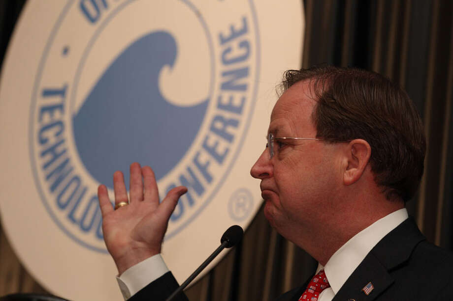 Rep. Bill Flores, R-Bryan, speaks about U.S. energy policy during the conference Wednesday. Photo: Brett Coomer, Houston Chronicle / © 2012 Houston Chronicle