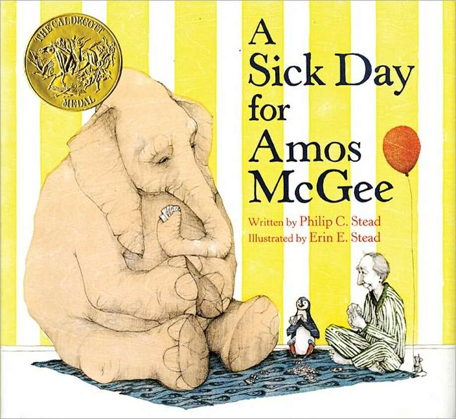 2011 Caldecott winner: A Sick Day for Amos McGee by Philip C. and Erin E. Stead.