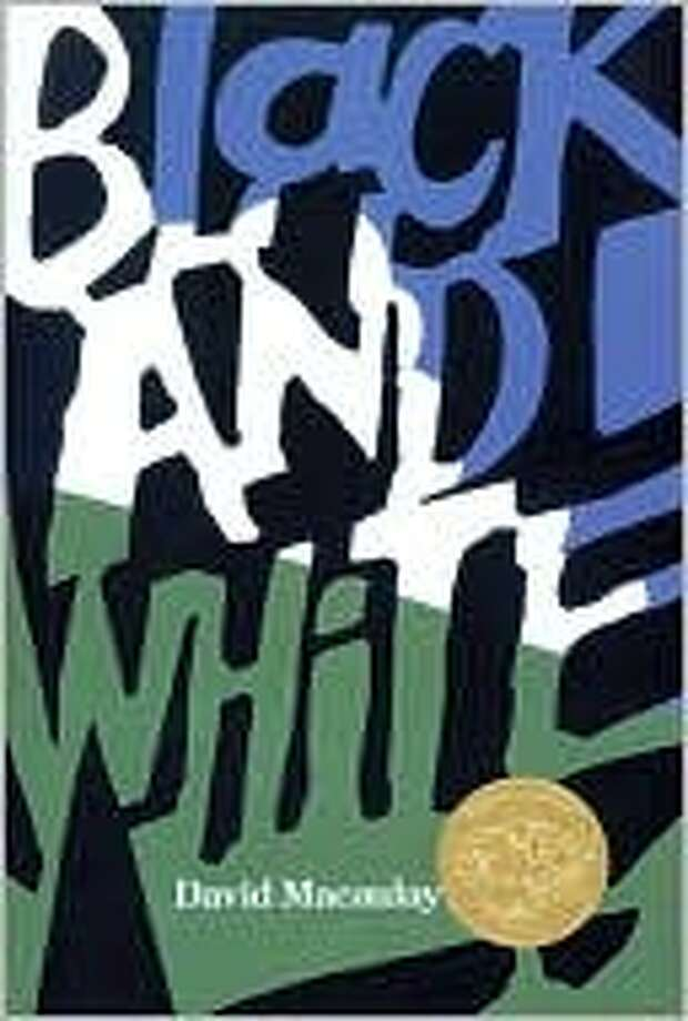 1991 Caldecott winner: Black and White by David Macaulay.