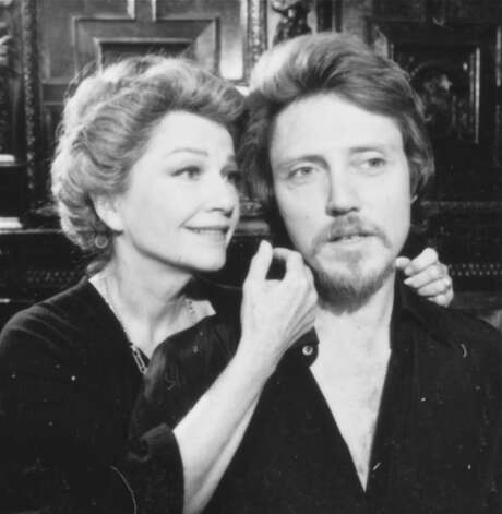 "Screen legend Anne Baxter played Queen Gertrude and Christopher Walken starred in the title role in ""Hamlet"" at the American Shakespeare Festival Theatre in Stratford during the summer of 1982. Walken is returning to Stratford to talk about his work there during a special public interview at the Scottish Rite Theatre on Feb. 17 Photo: Contributed Photo"