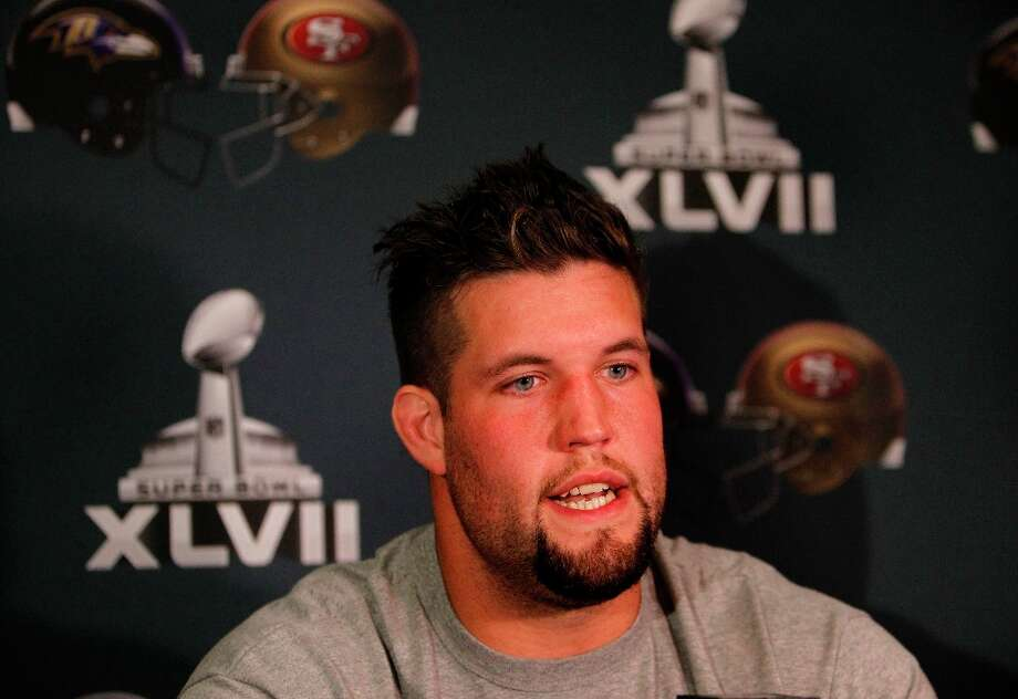 Guard/Tackle Alex Boone talks with the news media as the San Francisco 49ers hold their daily press conference at the New Orleans Marriott hotel in New Orleans, Louisiana  on Monday Jan. 28,  2013. Photo: Michael Macor, The Chronicle / ONLINE_YES