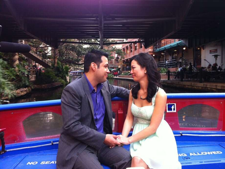 "With Valentine's Day around the corner, Love is definitely in the air! San Antonio's Christopher Mendoza, aspiring actor and reality show veteran, was chosen by ABC to star in the most important TV spot of his life: With the River Walk as the backdrop, Mendoza will propose to his girlfriend, Cindy Chau, in ""Marry Me Monday,"" a segment that will air during a break in Monday's episode of ""The Bachelor."" Photo: Jen Friesen Of Met/Hodder"