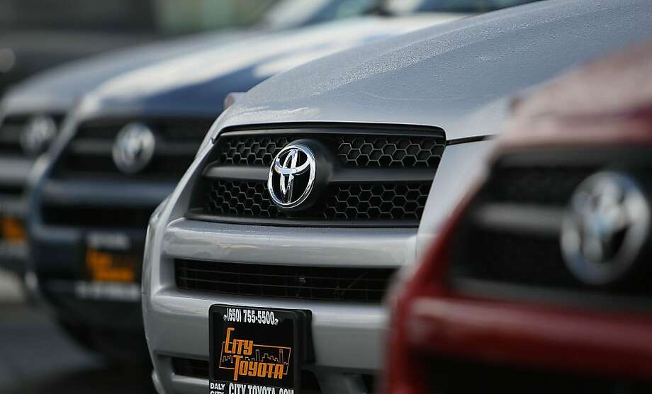 Toyota reported worldwide sales of 9.75 million vehicles for the year, making it the top automaker. Photo: Justin Sullivan, Getty Images