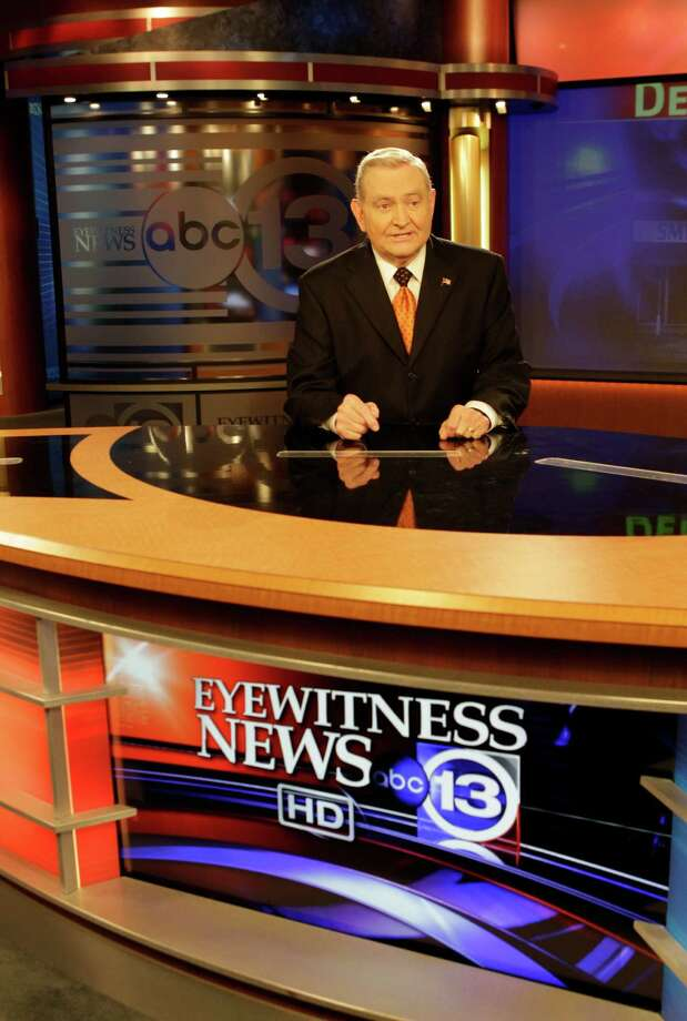 Dave Ward, news anchor, at the anchor desk at Channel 13 Studio, 3310 Bissonnet, 3310 Bissonnet, Friday, Oct. 28, 2011, in Houston. Dave's 45th anniversary at KTRK is on November 9.  On November 5, he will be inducted into the Silver Circle of the Lone Star Chapter of the Emmy's Academy of TV, Arts and Sciences. He will be awarded a Lifetime achievement award in News Broadcast/TV. ( Melissa Phillip / Houston Chronicle ) Photo: Melissa Phillip, Staff / © 2011 Houston Chronicle