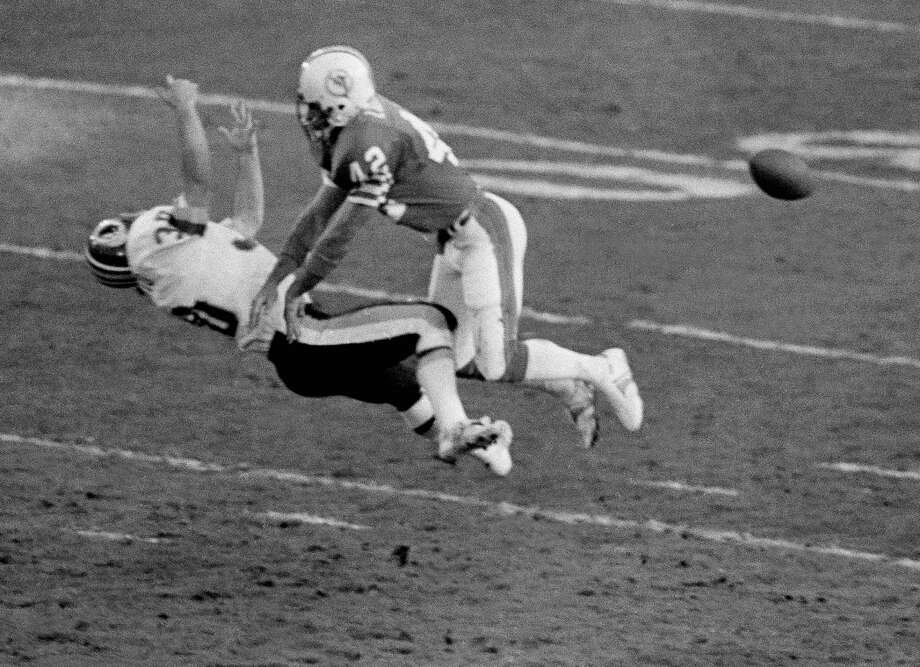 Lyle Blackwood, Churchill High SchoolBlackwood, a safety, lost two Super Bowls with the Miami Dolphins: Super Bowl XVII (1983) to the Washington Redskins, and Super Bowl XIX (1985) to the San Francisco 49ers. PHOTO: Blackwood (42) knocks Washington receiver Nick Giaquinto (30) to ground during first half of Super Bowl XVII at the Rose Bowl in Pasadena, Calif., on Jan. 30, 1983. Interference was called on the Dolphins, giving the Redskins field position which led to a touchdown. Photo: Associated Press