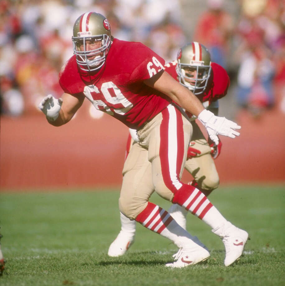 Bruce Collie, Lee High SchoolCollie, an offensive lineman, won two Super Bowls with the San Francisco 49ers: Super Bowl XXIII (1989) against the Cincinnati Bengals, and Super Bowl XXIV (1990) against the Denver Broncos. PHOTO: Collie works against Atlanta at Candlestick Park in San Francisco on Nov. 12, 1989. Photo: Otto Greule Jr., Allsport / Getty Images North America