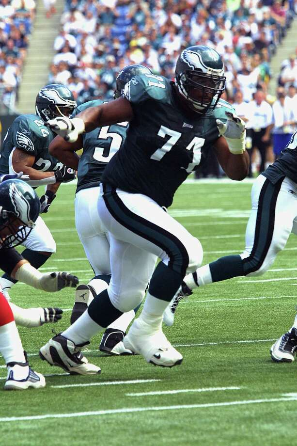 Jermane Mayberry, Floresville High SchoolMayberry, an offensive lineman with the Philadelphia Eagles, lost Super Bowl XXXIX (2005) to the New England Patriots.  PHOTO: Mayberry (71) is seen during a 2002 game. Photo: Associated Press