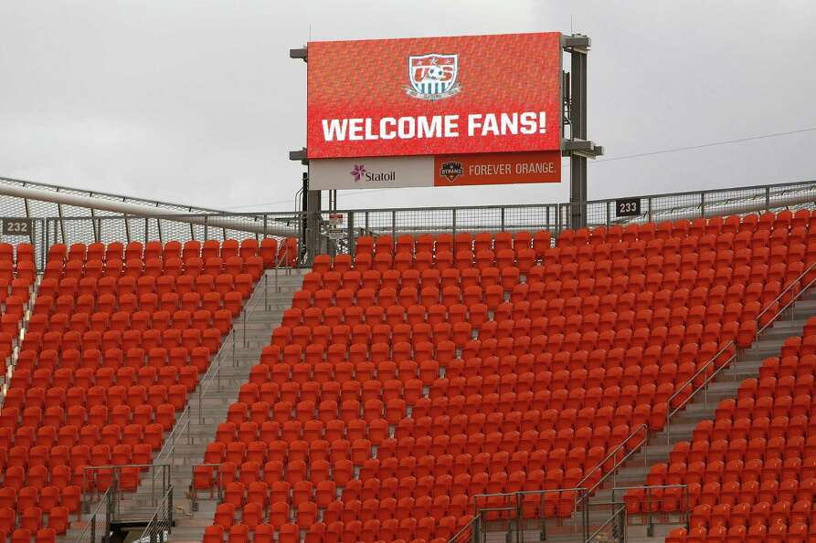 BBVA Compass Stadium prepares for the U.S. Mens National Soccer Team against Canada Monday, Jan. 28,