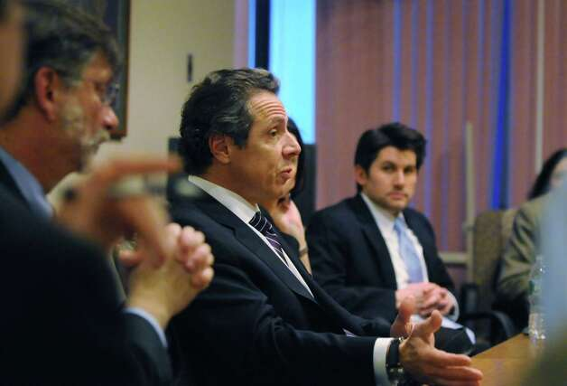 Gov. Andrew Cuomo speaks during a Times Union editorial board meeting Monday afternoon, Jan. 28, 2013. (Will Waldron /Times Union) Photo: Will Waldron