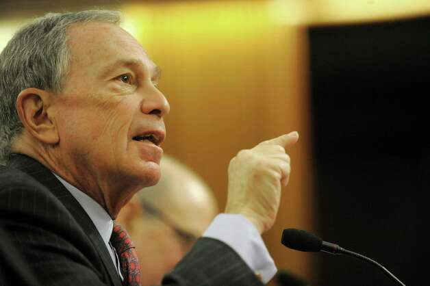 New York Mayor Michael Bloomberg answers a  legislator's question at the Legislative Office Building during a legislative budget hearing on Monday, Jan. 28, 2013 in Albany, NY.  (Paul Buckowski / Times Union) Photo: Paul Buckowski  / 00020929A