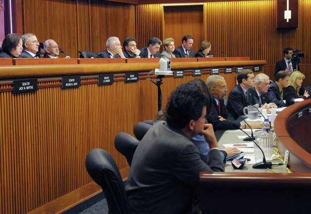 State Senators and Assembly members hold a legislative budget hearing at the Legislative Office Building during  on Monday, Jan. 28, 2013 in Albany, NY.  (Paul Buckowski / Times Union) Photo: Paul Buckowski  / 00020929A