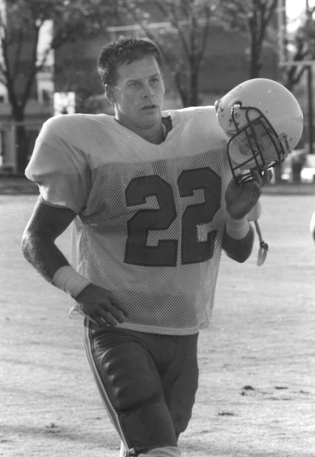 John Hagy, Marshall High SchoolHagy, a safety with the Buffalo Bills, lost Super Bowl XXV (1991) to the New York Giants.  PHOTO: Hagy is seen during a morning training session at Houston Oilers camp at Trinity University on July 16, 1991. Photo: San Antonio Express-News File Photo