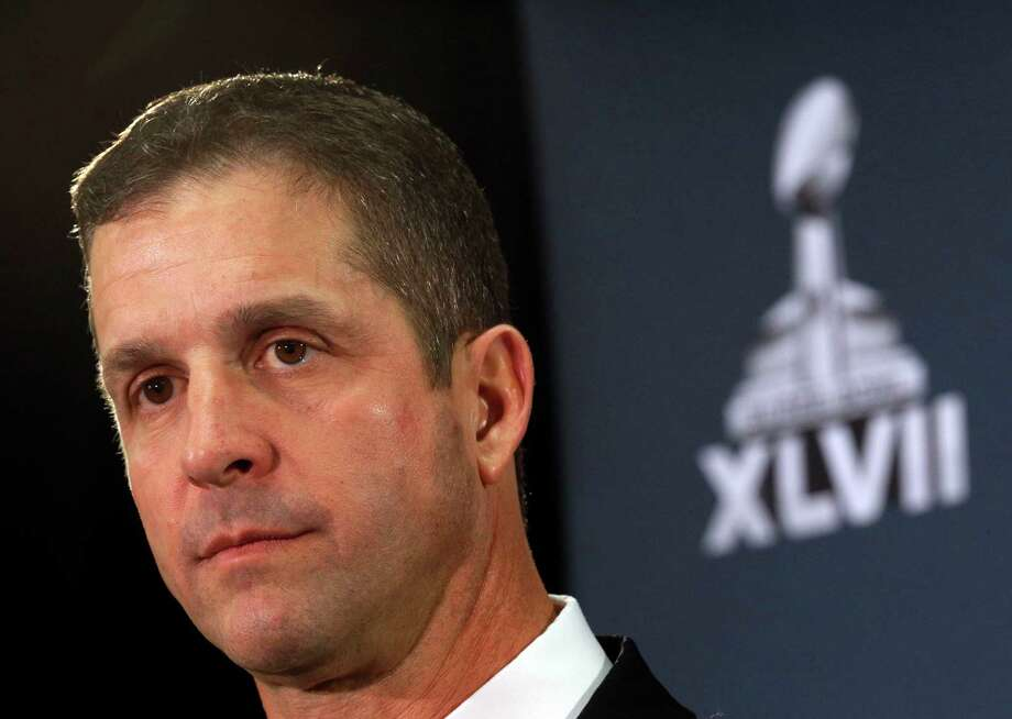 Baltimore Ravens head coach John Harbaugh speaks at an NFL Super Bowl XLVII football news conference on Monday, Jan. 28, 2013, in New Orleans. The Ravens face the San Francisco 49ers in Super Bowl XLVII on Sunday, Feb. 3. (AP Photo/Patrick Semansky) Photo: Patrick Semansky, Associated Press / AP