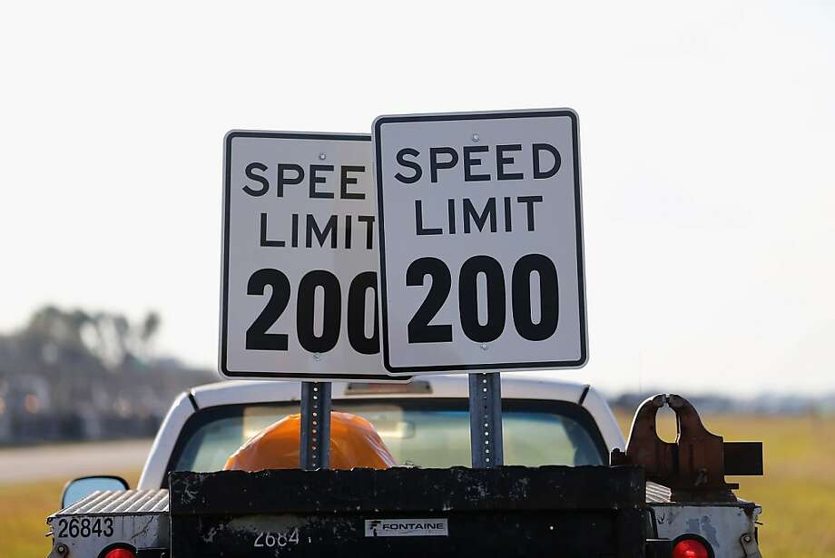 MIAMI, FL - JANUARY 28: A Speed Limit 200 sign is seen during the world wide unveiling of the new Lamborghini Aventador LP700-4 Roadster at the Miami International Airporton January 28, 2013 in Miami, Florida. The world wide unveiling of the new luxury super sports cars took place at the airport.  (Photo by Joe Raedle/Getty Images) Photo: Joe Raedle, Getty Images