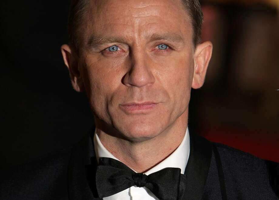 British actor Daniel Craig arrive, second best Bond ever.