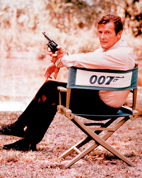 Roger Moore -- yet another Bond on this list -- he was the cheerful, self-satisfied Bond.  Also unde