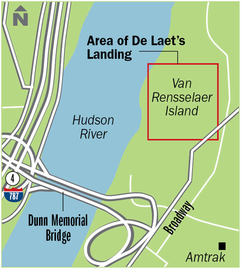 Area of De Laet's landing.