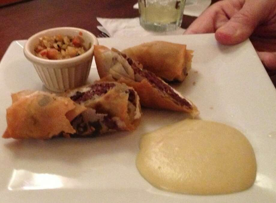 Blood sausage spring rolls at Jose Enrique