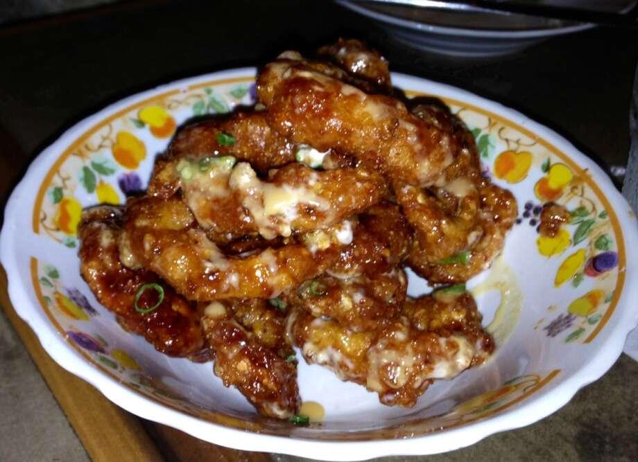 Salt-cod tempura calamari at La Jacquita Baya