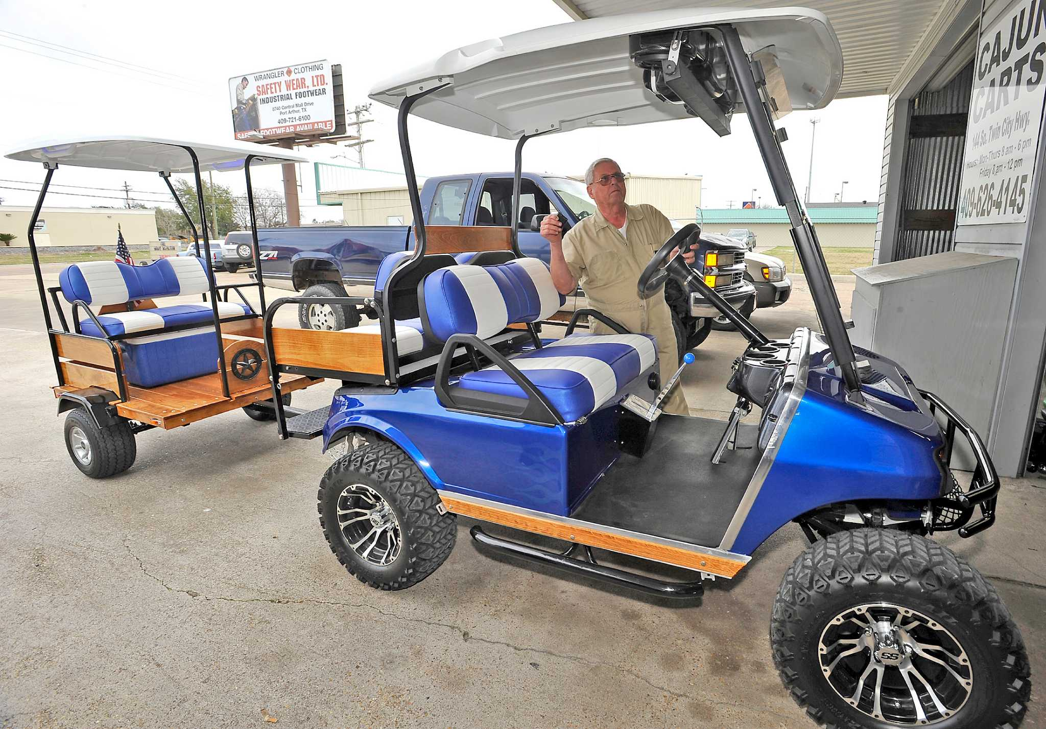 Mid-County goes a for golf carts - Beaumont Enterprise on golf carts like trucks, golf carts made in china, motorized bike seats, golf hand carts, wagon seats, golf cort, golf carts for disabled, go kart seats, boat seats, golf golfers carts for handicapped, golf seats folding, golf buggy,