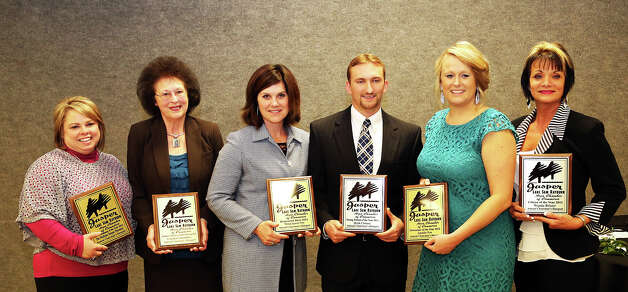 The winners at the Jasper Lake Sam Rayburn Area Chamber of Commerce Chairman's Banquet. Photo: Charles Kerr