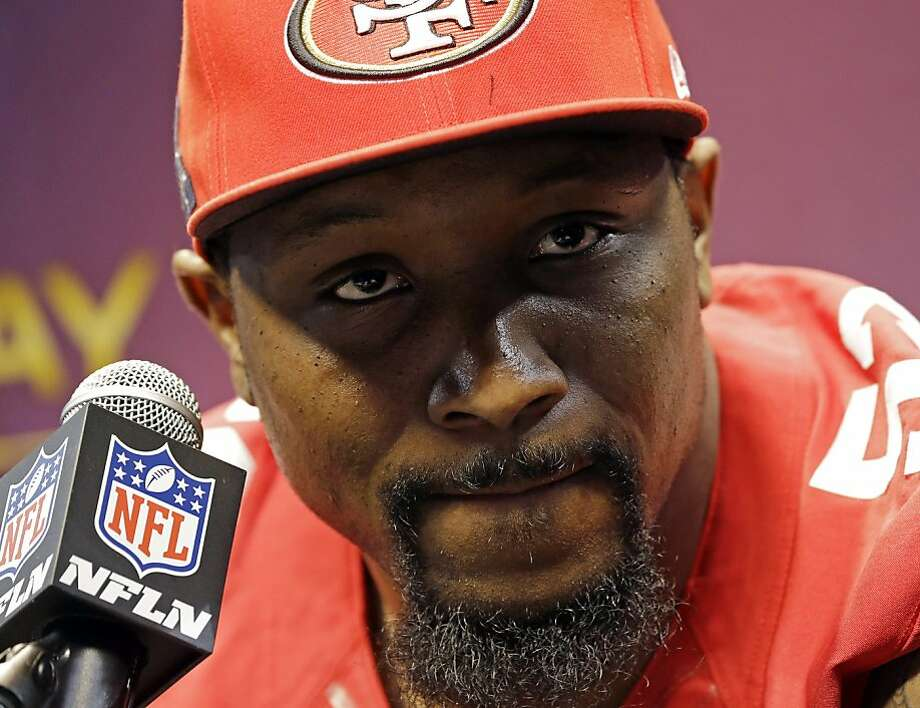 San Francisco 49ers linebacker NaVorro Bowman speaks during media day for the NFL Super Bowl XLVII football game Tuesday, Jan. 29, 2013, in New Orleans. Photo: Pat Semansky, Associated Press