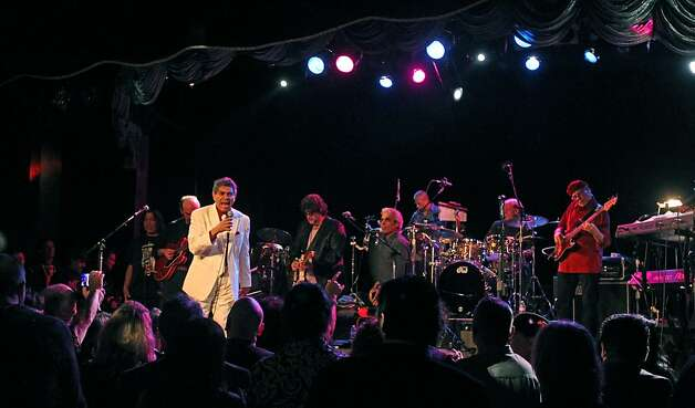 "Rick Stevens the former Tower of Power lead singer, sang his hit song ""You're Still A Young  Man"" at Bimbo's 365 Club in San Francisco were he performed at the Voices of Latin Rock benefit concert Thursday, Jan. 24, 2013. Stevens who six months ago got out of prisons for a double murder 36 years ago, hopes to resume his singing career. Photo: Lance Iversen, The Chronicle"