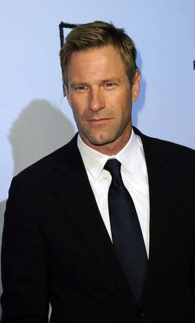 Aaron Eckhart, shown here at The Rum Diary premiere, on October 13, 2011 in Los Angeles.