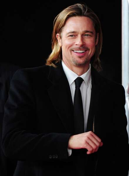 Brad Pitt arrives at the premiere of the film In the Land of Blood and Honey on February 11, 2012 du