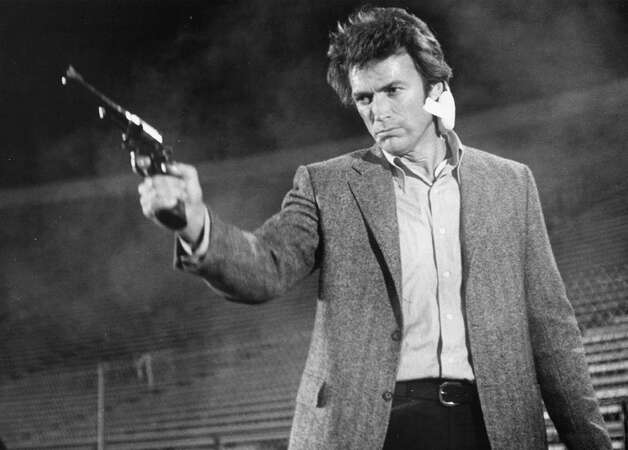 Clint Eastwood -- pre-chair. Photo: Associated Press / Warner Bros.
