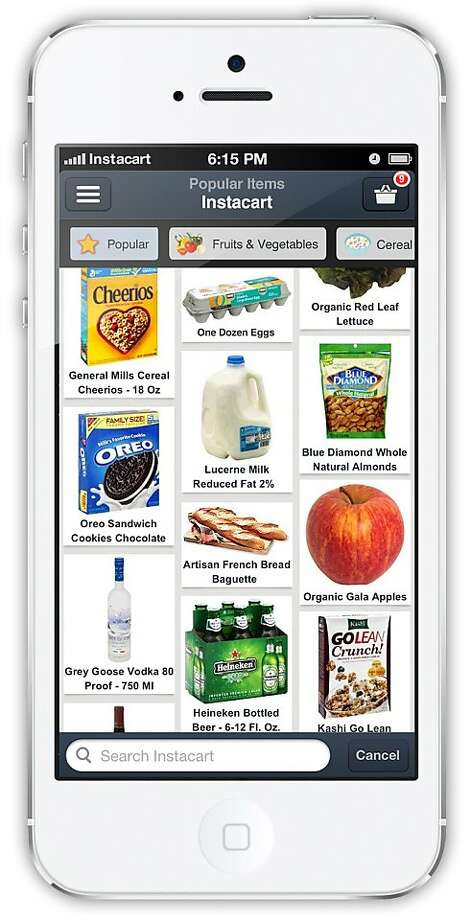 Instacart phone app Photo: Instacart