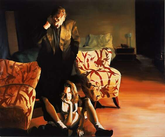 """The Bed, The Chair, The Sitter"" (2000) oil on linen by Eric Fischl Photo: Unknown"