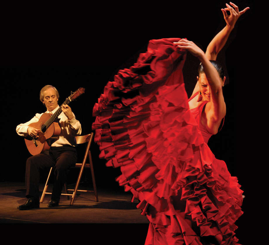 "Celebrated flamenco guitarist Paco Pena, left, will be bringing his new show ""Flamenco Vivo"" to the Palace Theatre in Stamford, Conn., Saturday, Feb. 2. Get ready for an evening of song and dance that honors this centuries-old tradition. For information on tickets, visit http://www.scalive.org or call 203-325-4466. Photo: Contributed Photo"