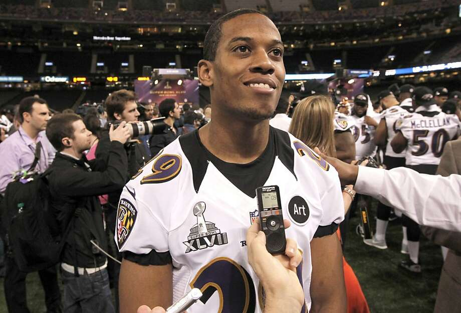 Ravens cornerback Cary Williams worked for Target, FedEx and Frito-Lay while at Washburn University. Photo: Michael Macor, The Chronicle