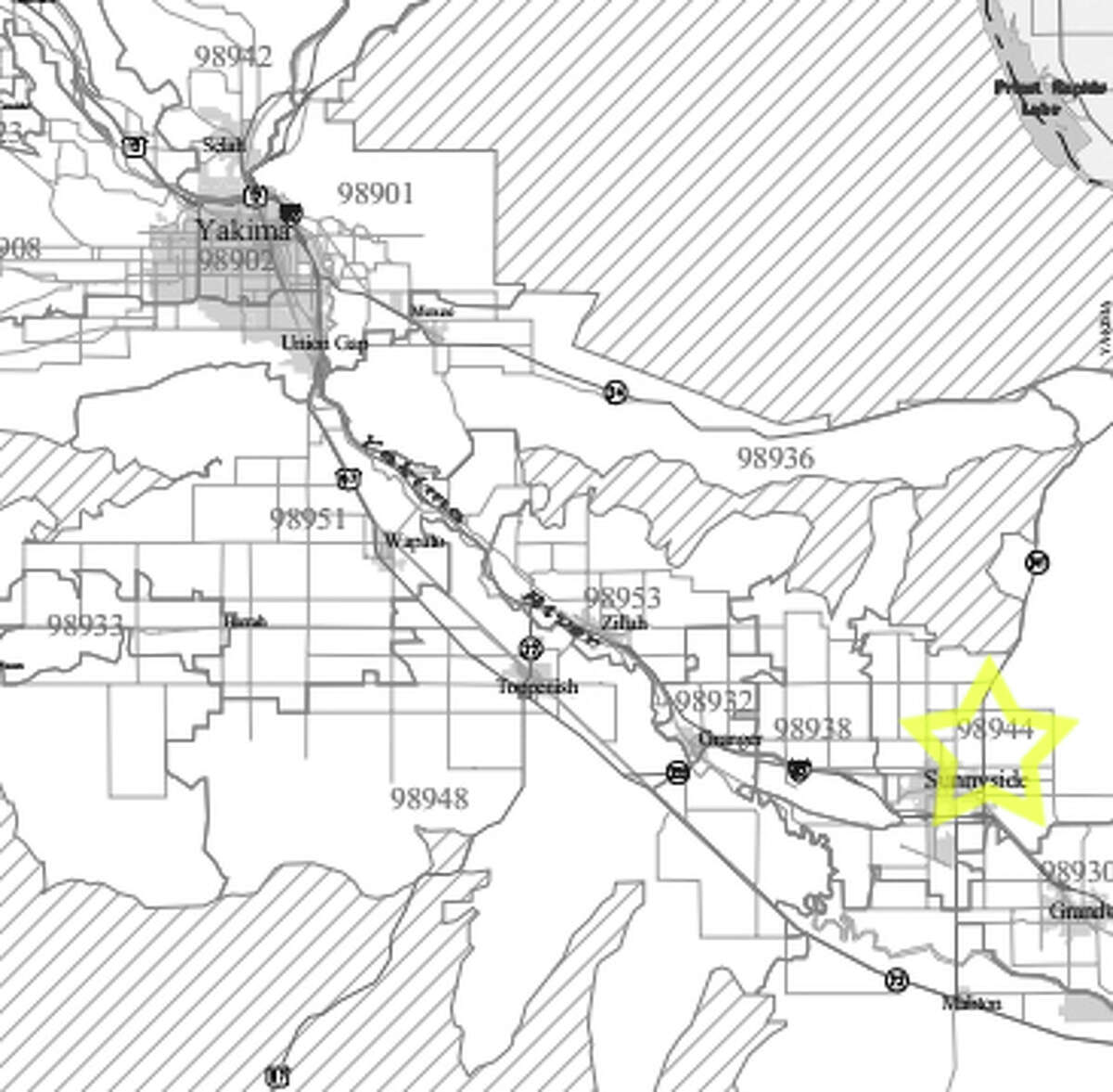 15. 98944: In this Sunnyside-area ZIP code, the average worker earned $17,602 in pay annually.