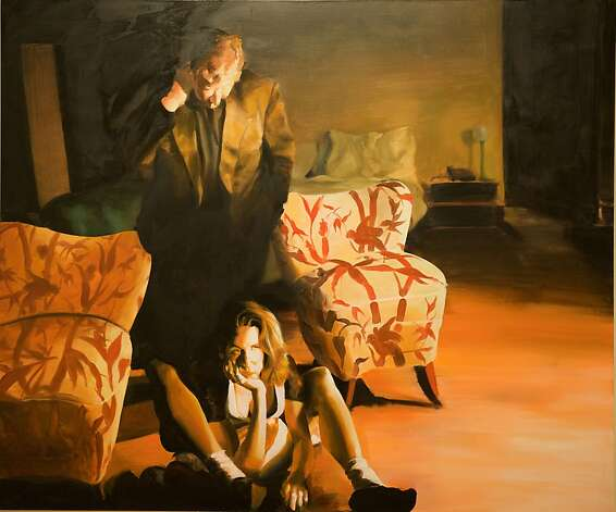 "Eric Fischl's ""The Bed, The Chair, The Sitter"" (2000, oil on linen) is part of a series involving hired models improvising scenes and poses in a chosen environment. Photo: Eric Fischl"