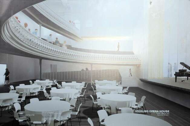 Renovation plans for Derby's Sterling Opera House. Photo: Autumn Driscoll / Connecticut Post
