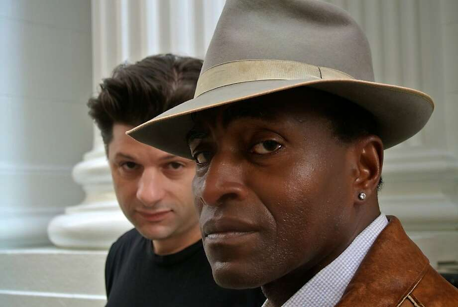 "Gabe Marin (left) is Jackie, a former drug dealer fresh out of prison; Carl Lumbly is Ralph D., a drug and parole counselor. ""The Mother- With the Hat"" runs through March 16. Photo: San Francisco Playhouse"