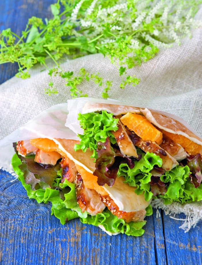 Country Living recipe for Spicy Orange and Sesame Chicken Sandwiches. Photo: Debra McClinton