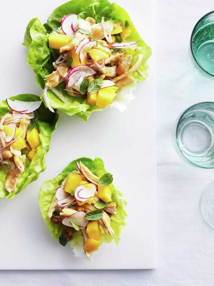 Redbook recipe for Chicken-Peanut Salad in Lettuce Cups. Photo: Con Poulos